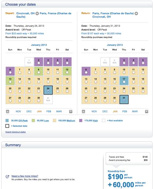 """Selecting my """"Off-Peak"""" flights"""